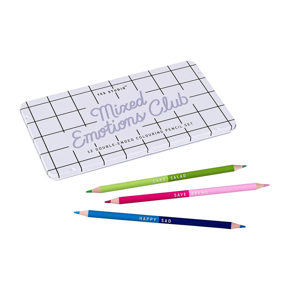Mixed Emotions Colouring Pencils - Yes Studio