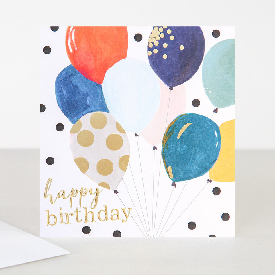 Painted Balloons Birthday Card - Caroline Gardner