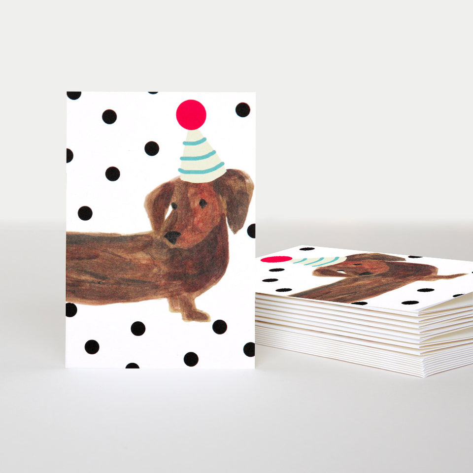 Sausage Dog Notecards - Pack of 10 - Caroline Gardner