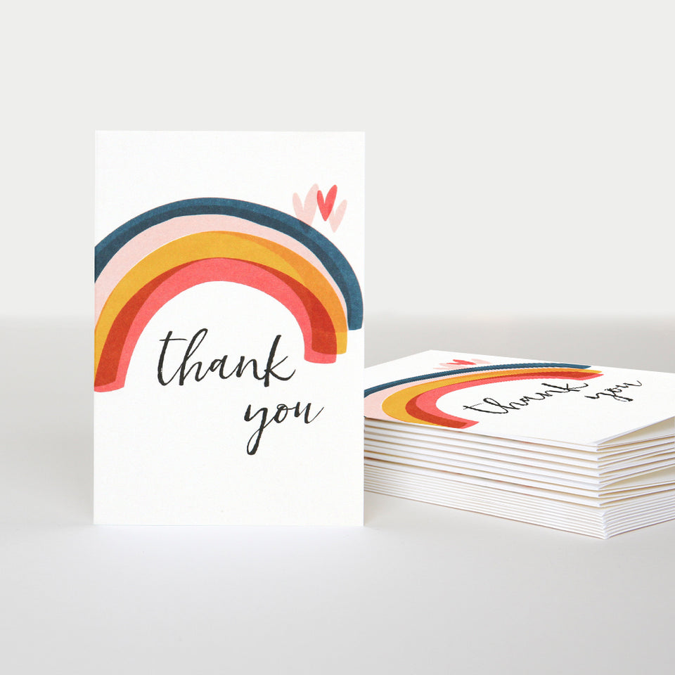 Rainbow Thank You Notecards - Pack of 10 - Caroline Gardner