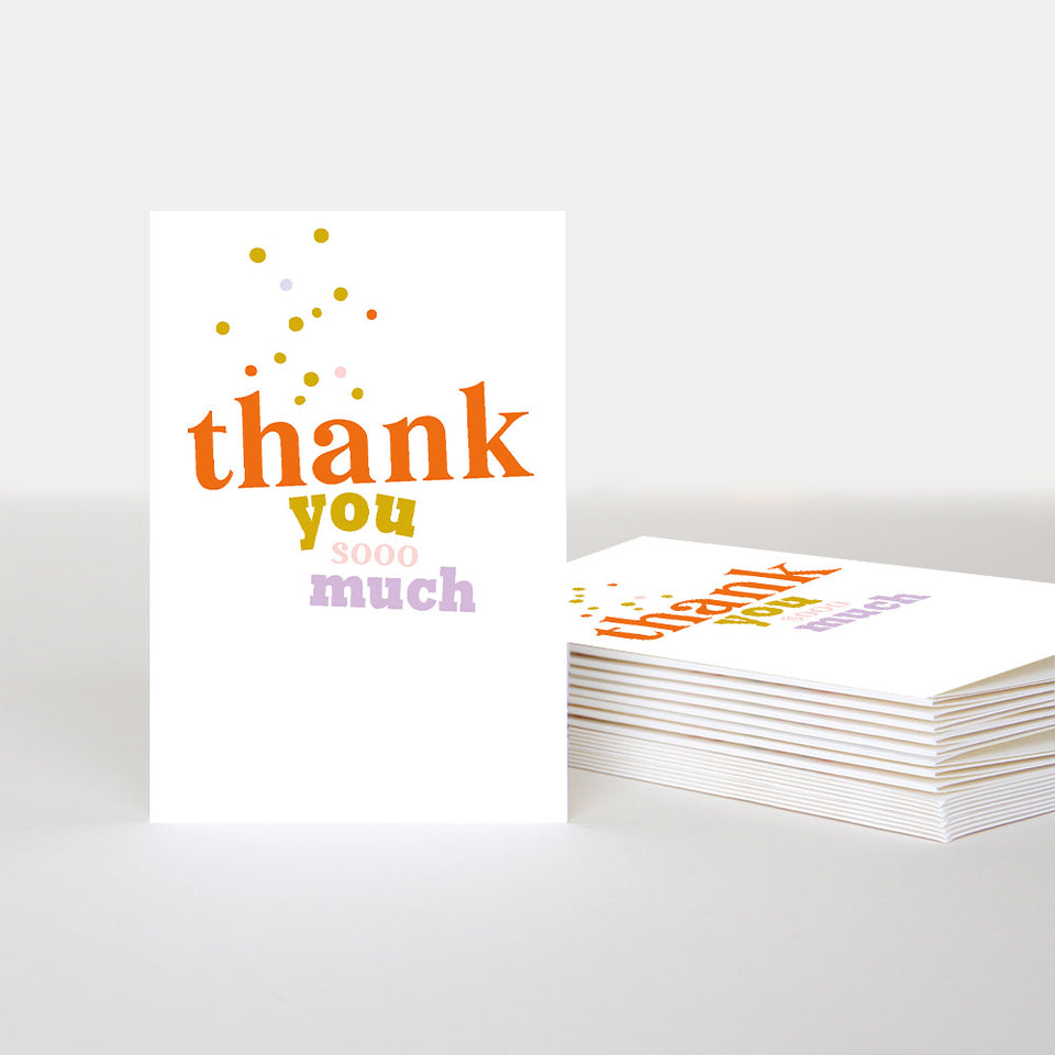 Thank You So Much Notecards - Pack of 10 - Caroline Gardner