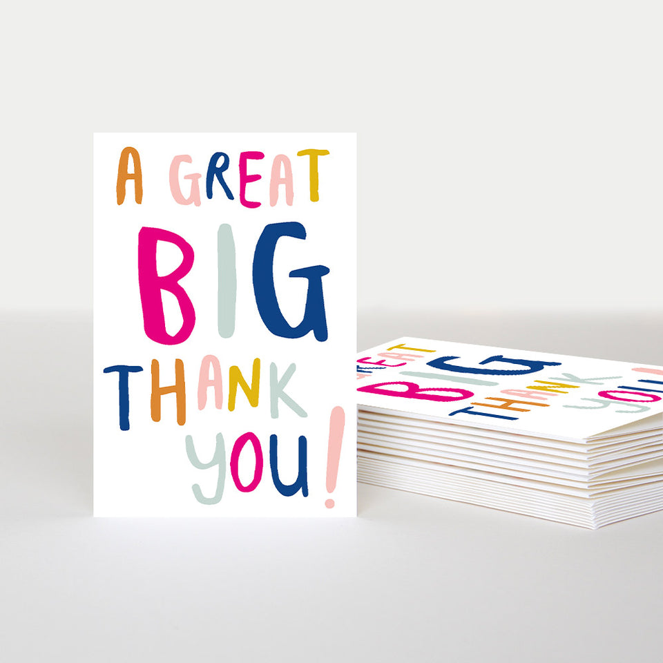 A Great Big Thank You Notecards - Pack of 10 - Caroline Gardner