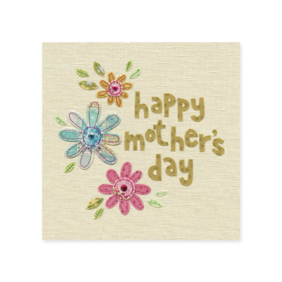 Mother's Day Flowers Card - Blue Eyed Sun