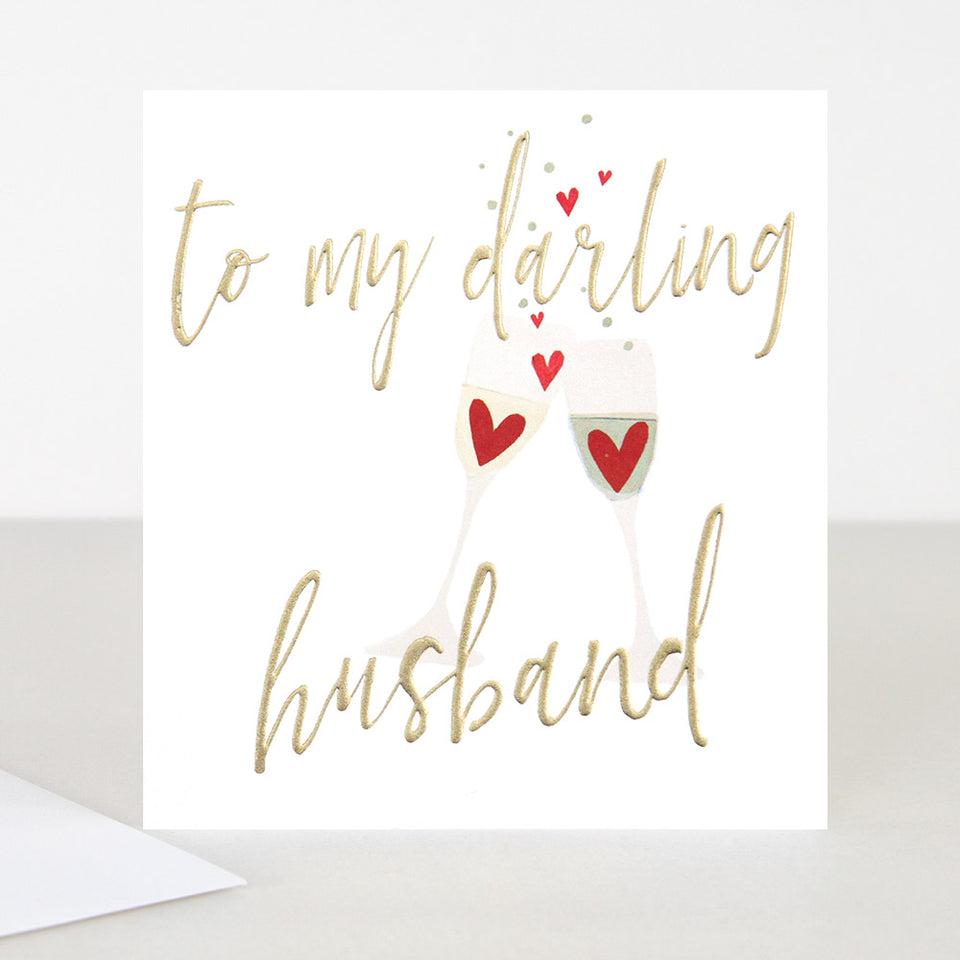 To My Darling Husband Greeting Card - Caroline Gardner