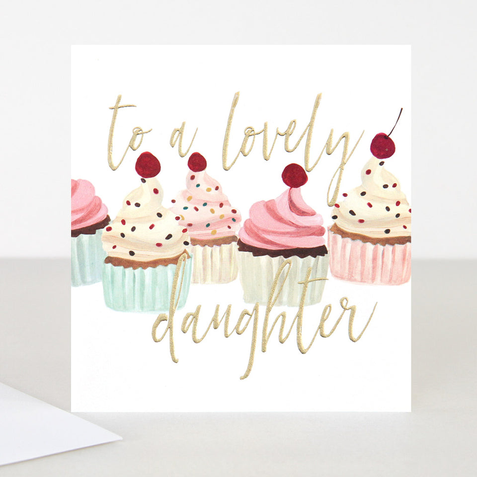 To A Lovely Daughter Birthday Card - Caroline Gardner