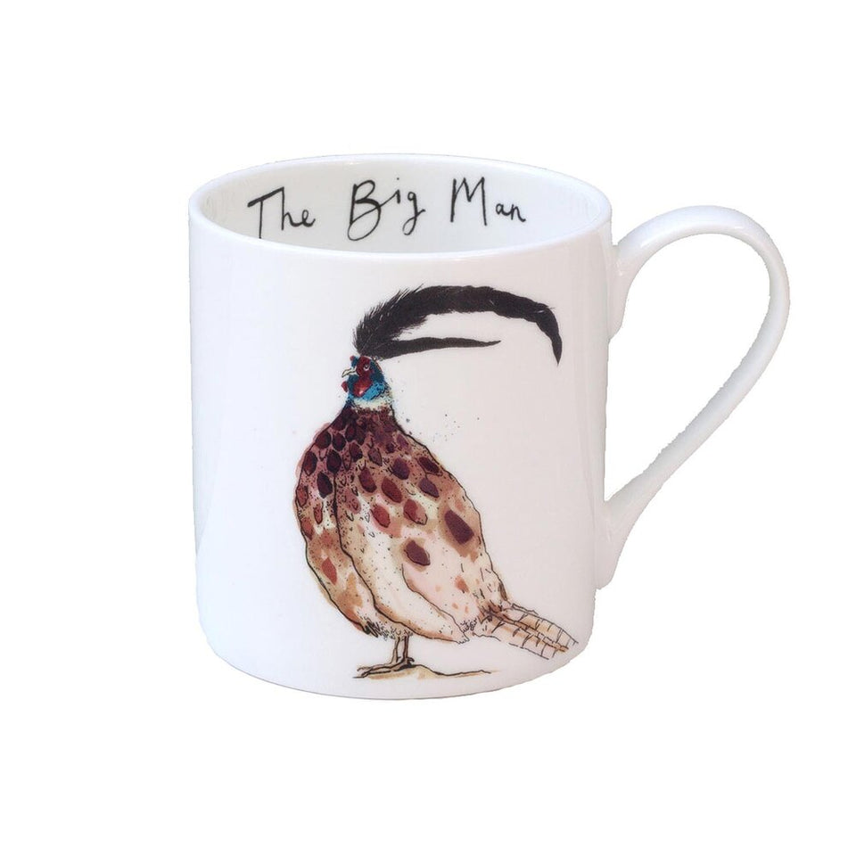 The Big Man Pheasant Mug - Anna Wright