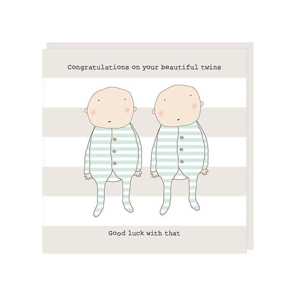Twins Good Luck Card - Rosie Made A Thing
