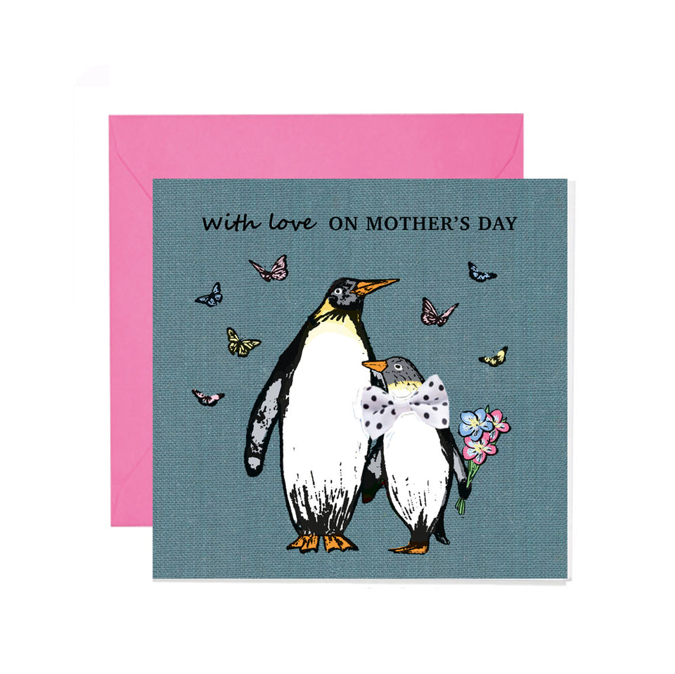 Mother's Day Penguins Card - Apple & Clover