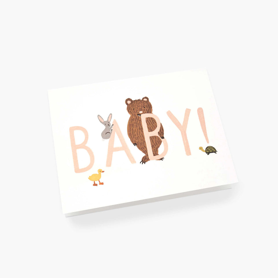 Baby Peach New Baby Card - Rifle Paper Co