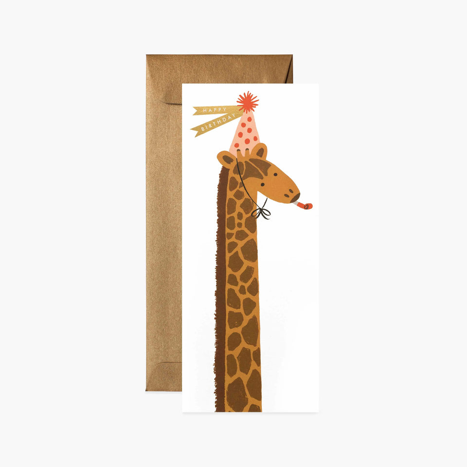 Birthday Giraffe Happy Birthday Card - Rifle Paper Co