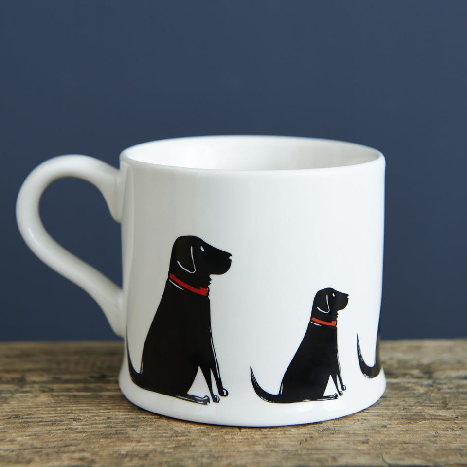 Black Labrador Dog Mug Gift - Sweet William