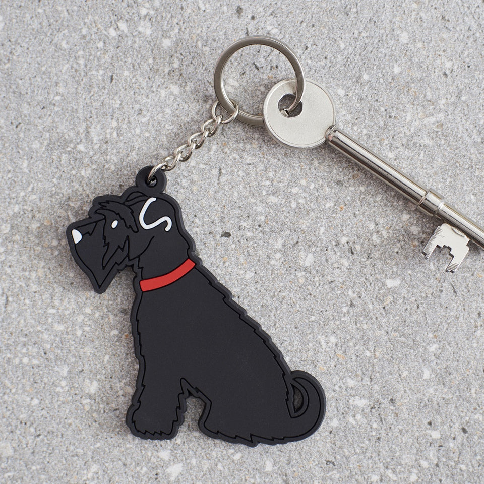 Black Schnauzer Dog Keyring - Sweet William