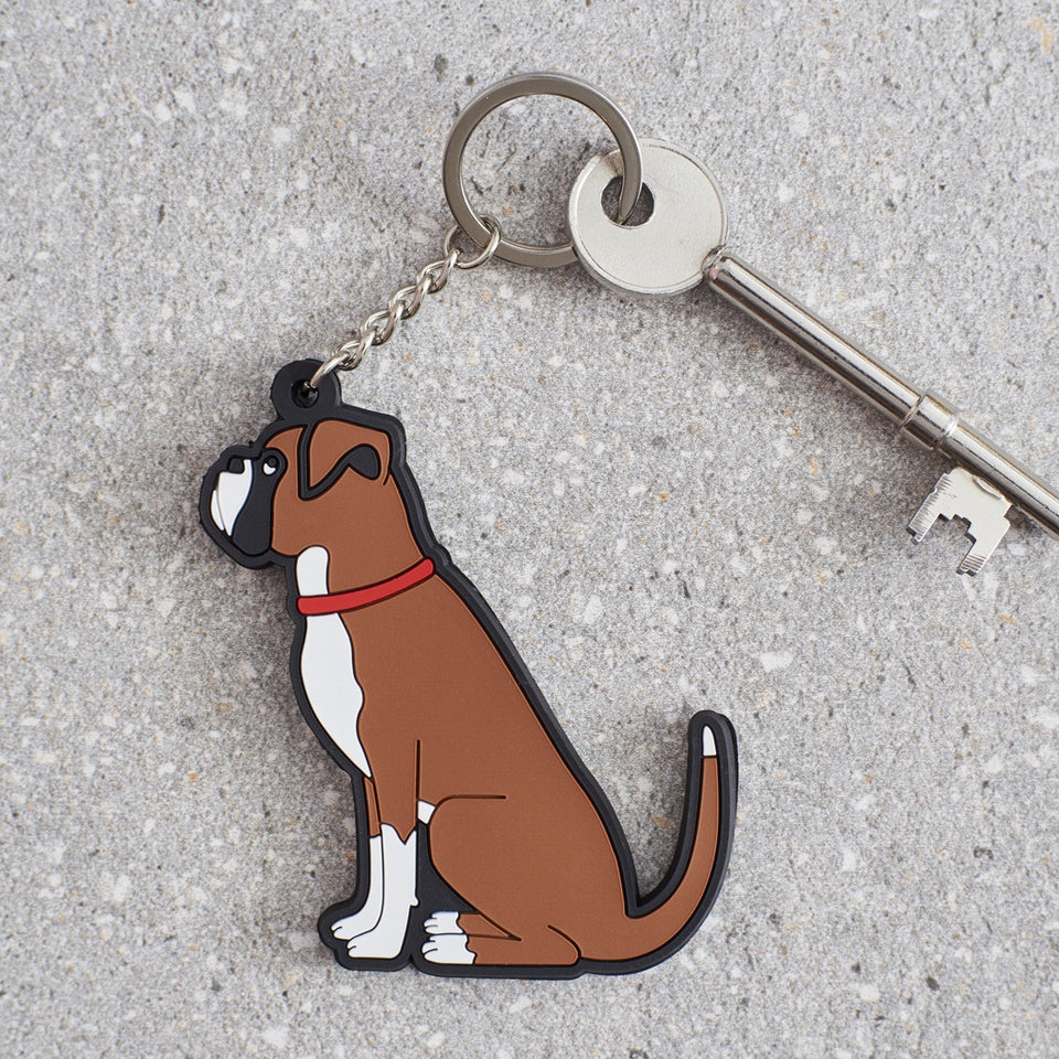 Boxer Dog Keyring - Sweet William