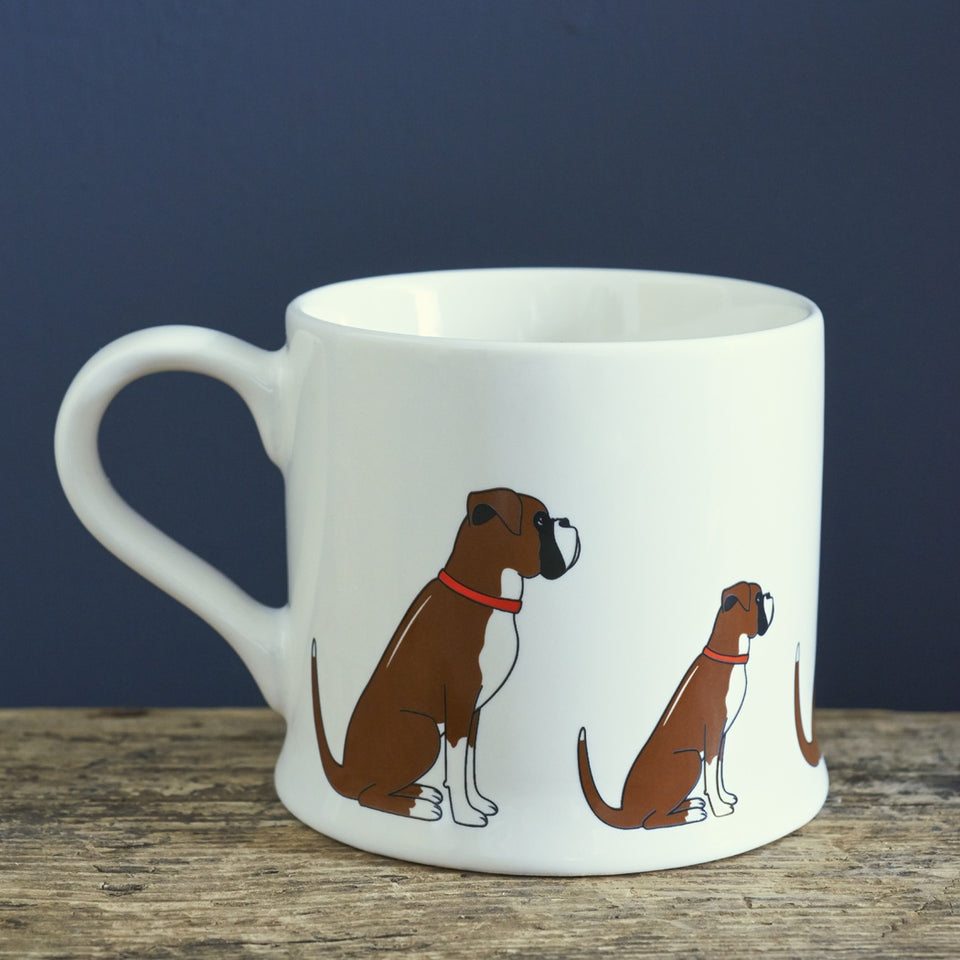 Boxer Dog Mug Gift - Sweet William