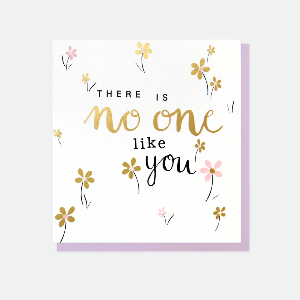 There Is No One Like You Golden Rule Greeting Card - Caroline Gardner
