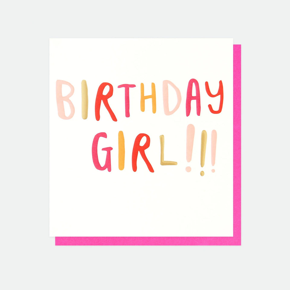 Birthday Girl Birthday Card - Caroline Gardner