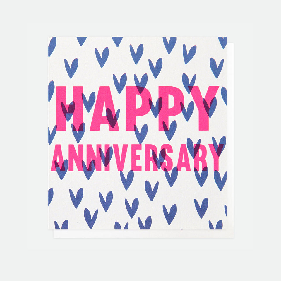 Happy Anniversary Hearts Card - Caroline Gardner