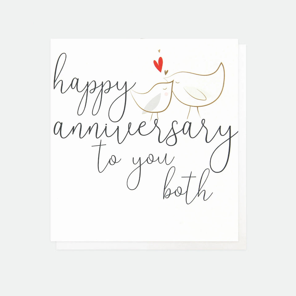 Happy Anniversary To You Both Card - Caroline Gardner