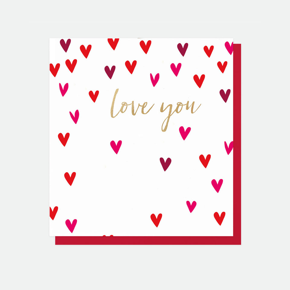 Love You Hearts Greeting Card - Caroline Gardner