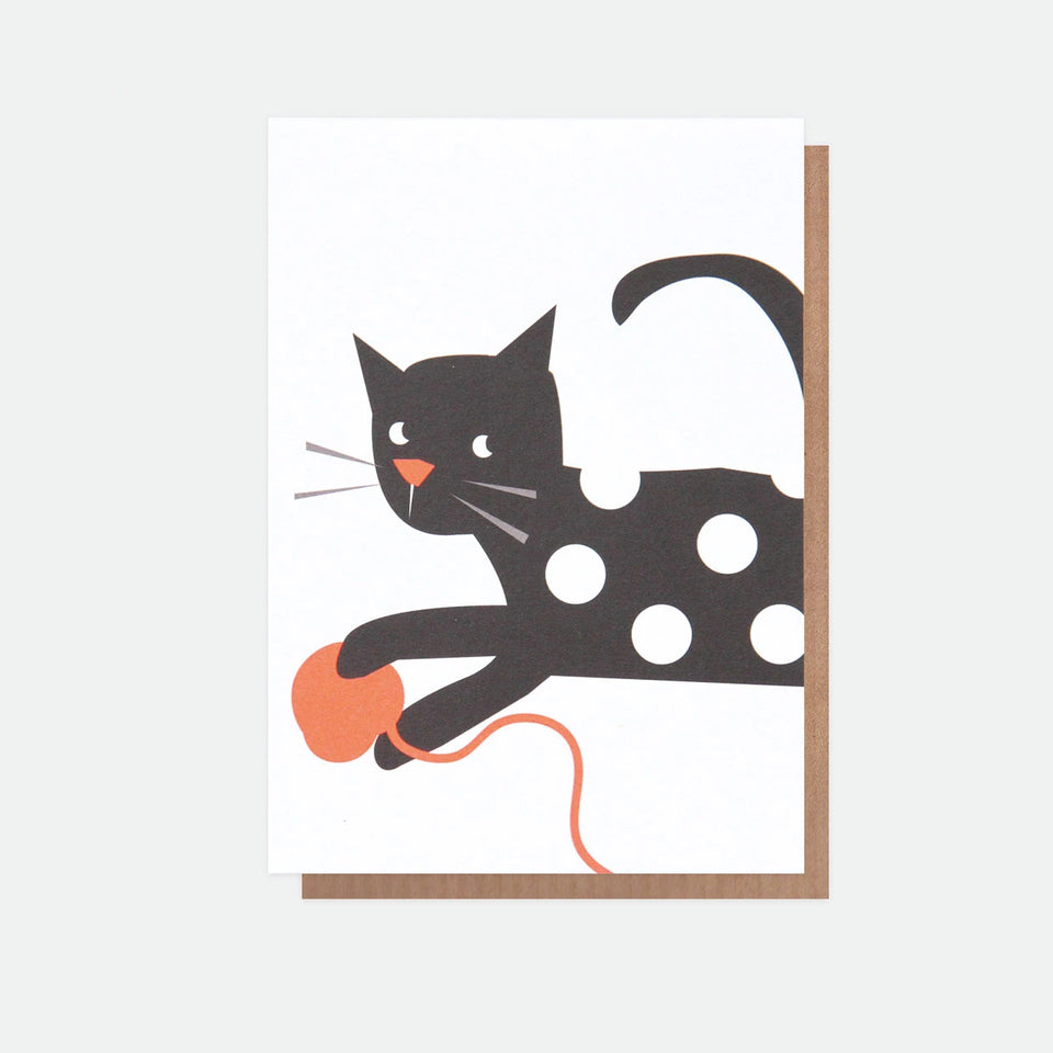 Neon Cat Everyday Card - Caroline Gardner