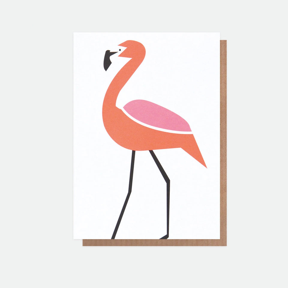 Neon Flamingo Everyday Card - Caroline Gardner