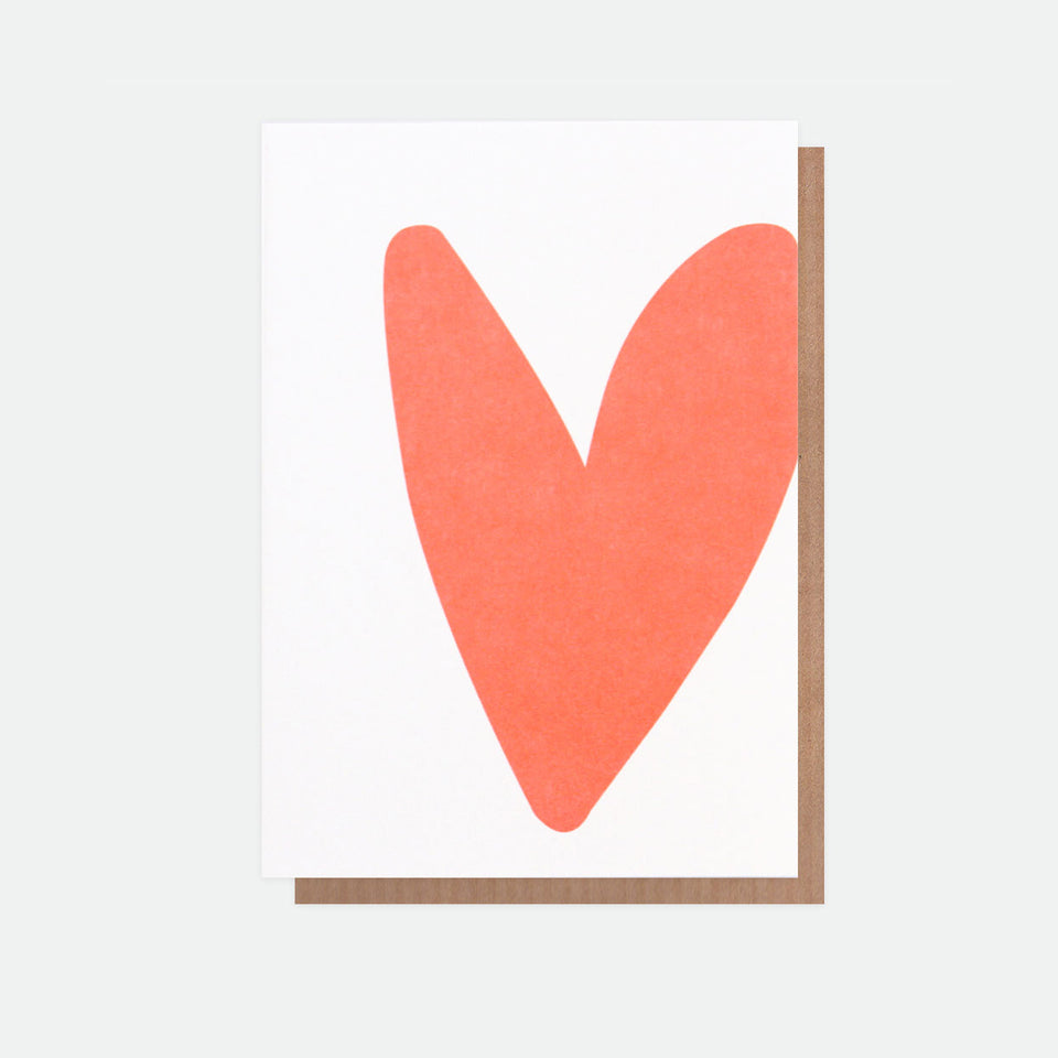 Neon Love Heart Greeting Card - Caroline Gardner