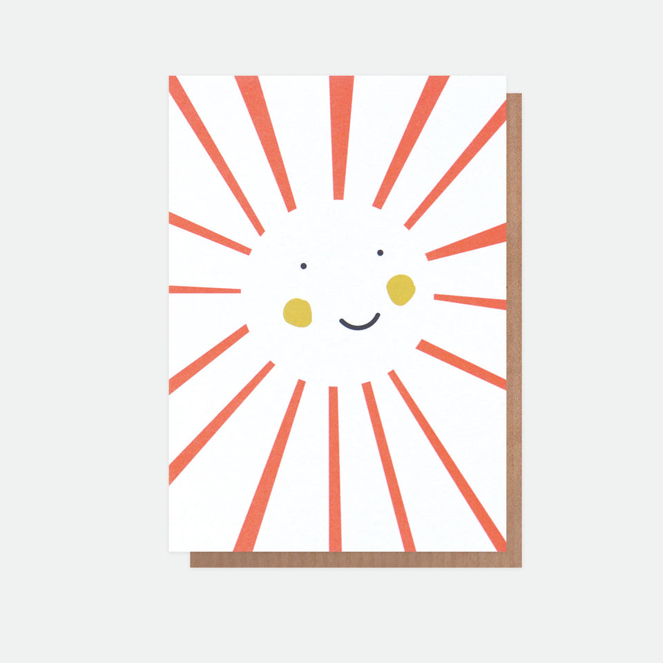 Neon Sun Everyday Greeting Card - Caroline Gardner