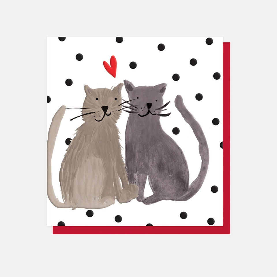 Two Love Cats Card - Caroline Gardner