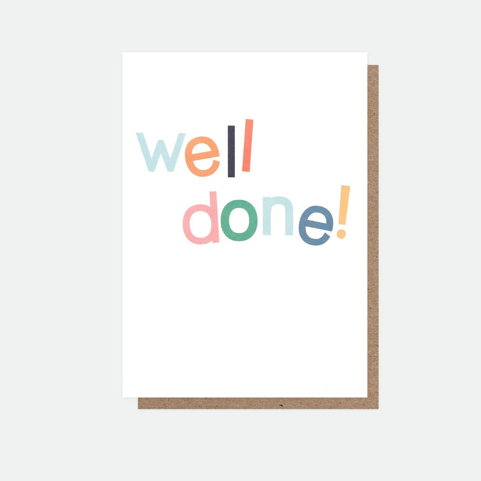 Well Done Card - Caroline Gardner