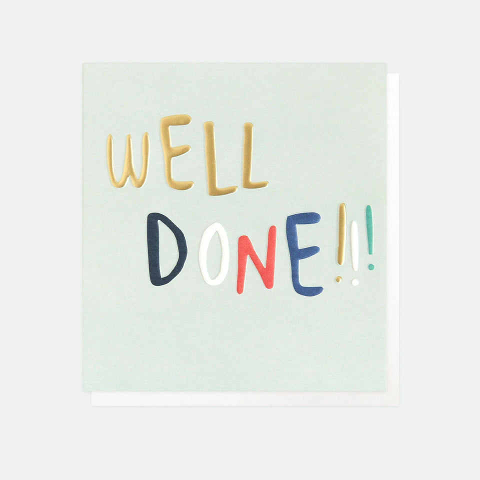 Well Done Greetings Card - Caroline Gardner