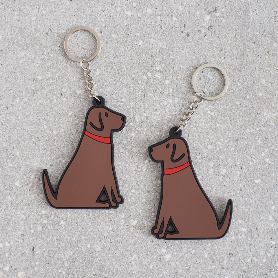 Chocolate Labrador Dog Keyring - Sweet William