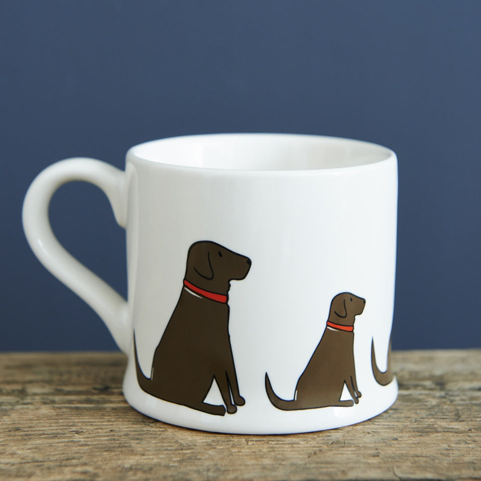 Chocolate Labrador Dog Mug Gift - Sweet William
