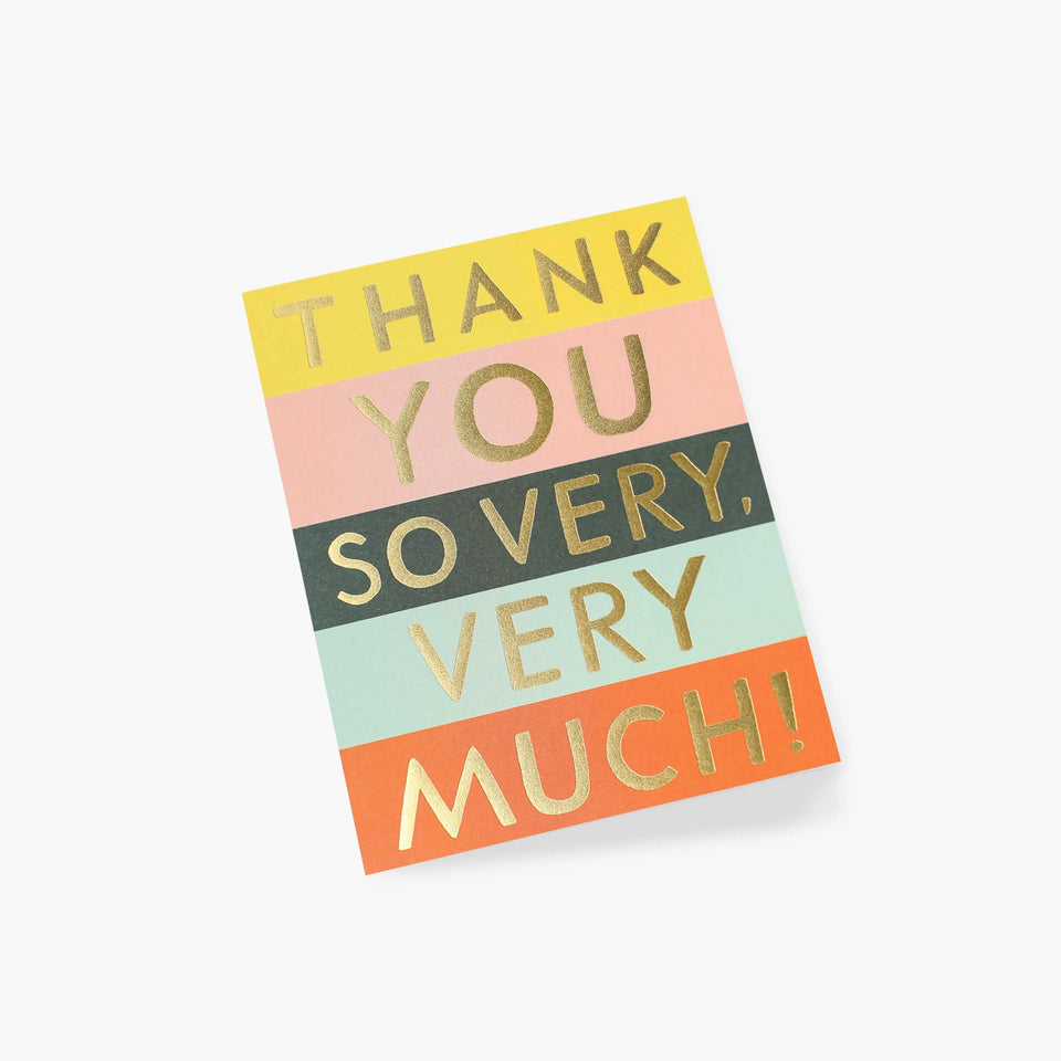 Colour Block Thank You Card - Rifle Paper Co