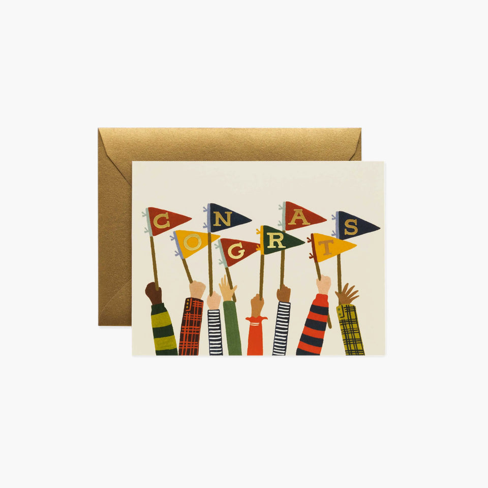 Congrats Pennants Greetings Card - Rifle Paper Co