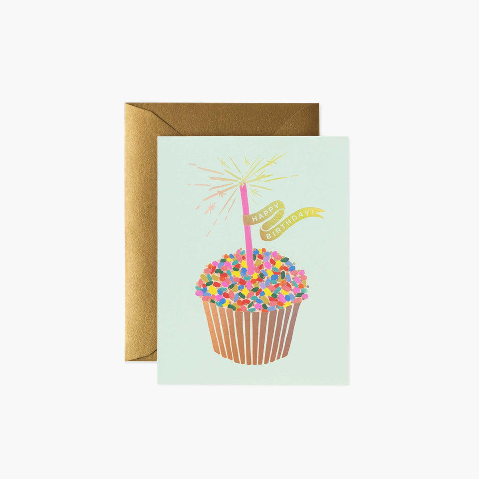 Cupcake Happy Birthday Card - Rifle Paper Co