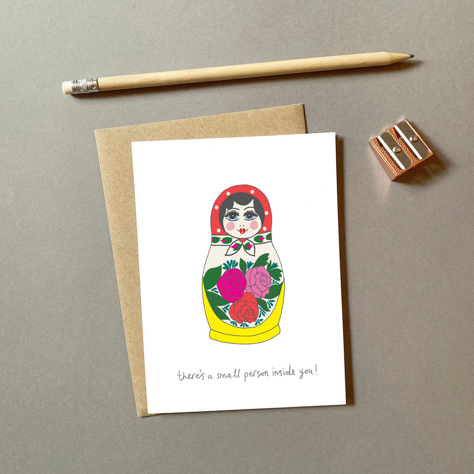 Small Person Inside Card - You've Got Pen On Your Face