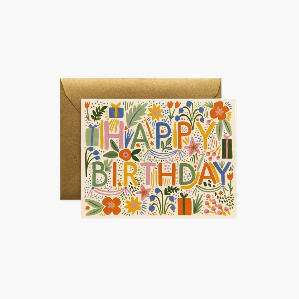 Fiesta Happy Birthday Card - Rifle Paper Co