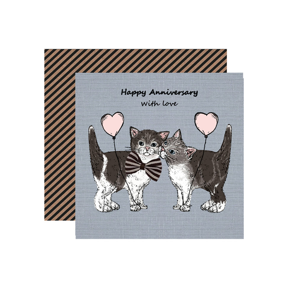 Happy Anniversary Cats Card - Apple & Clover