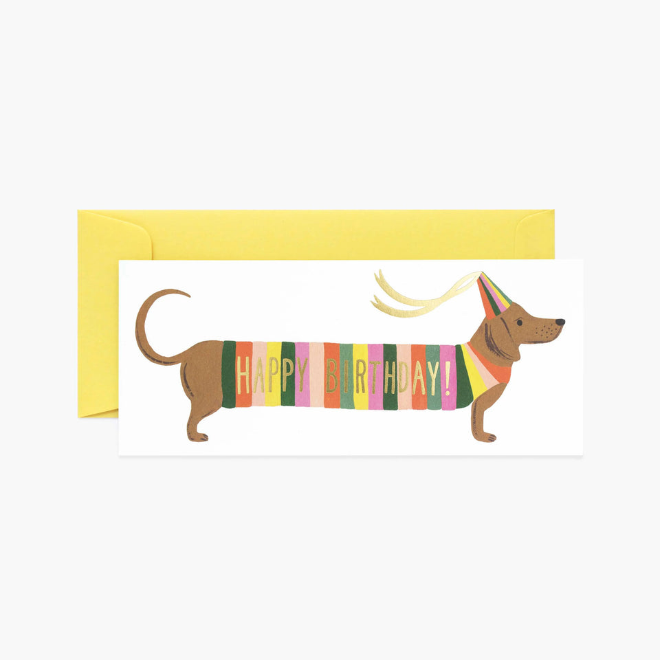 Hot Dog Happy Birthday Card - Rifle Paper Co