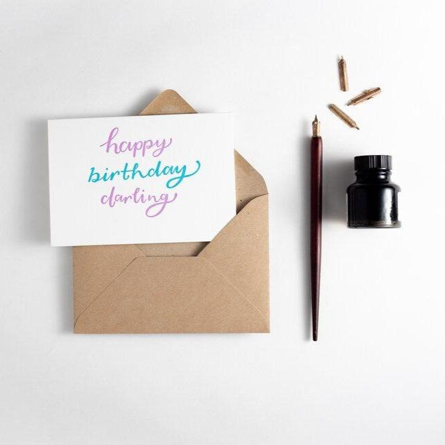 Happy Birthday Darling Card - Hunter Paper Co