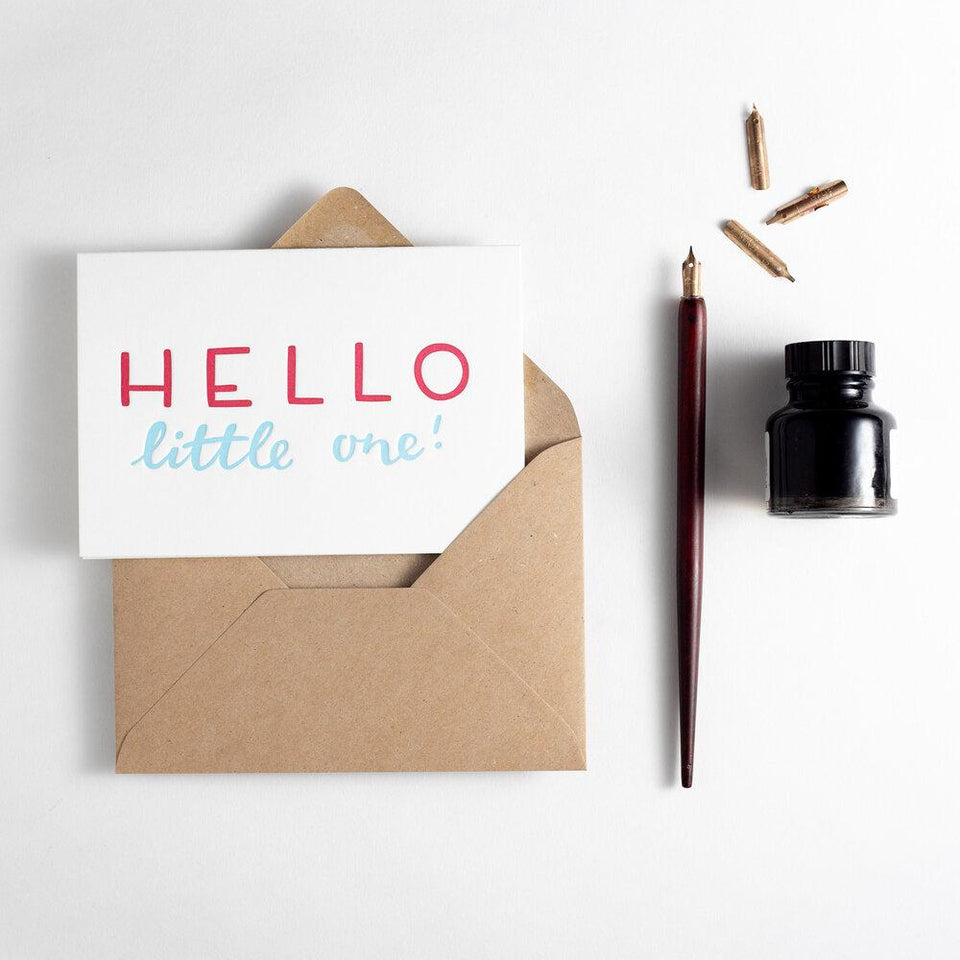Hello Little One Card - Hunter Paper Co
