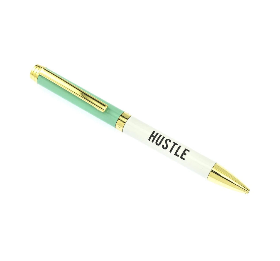 Hustle Black Ballpoint Pen - Graphique de France