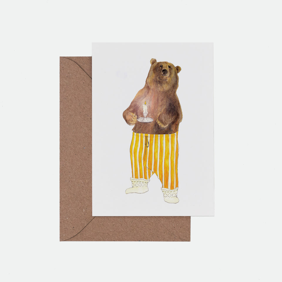 I Can Bearly See You Illustrated Greeting Card - Mister Peebles