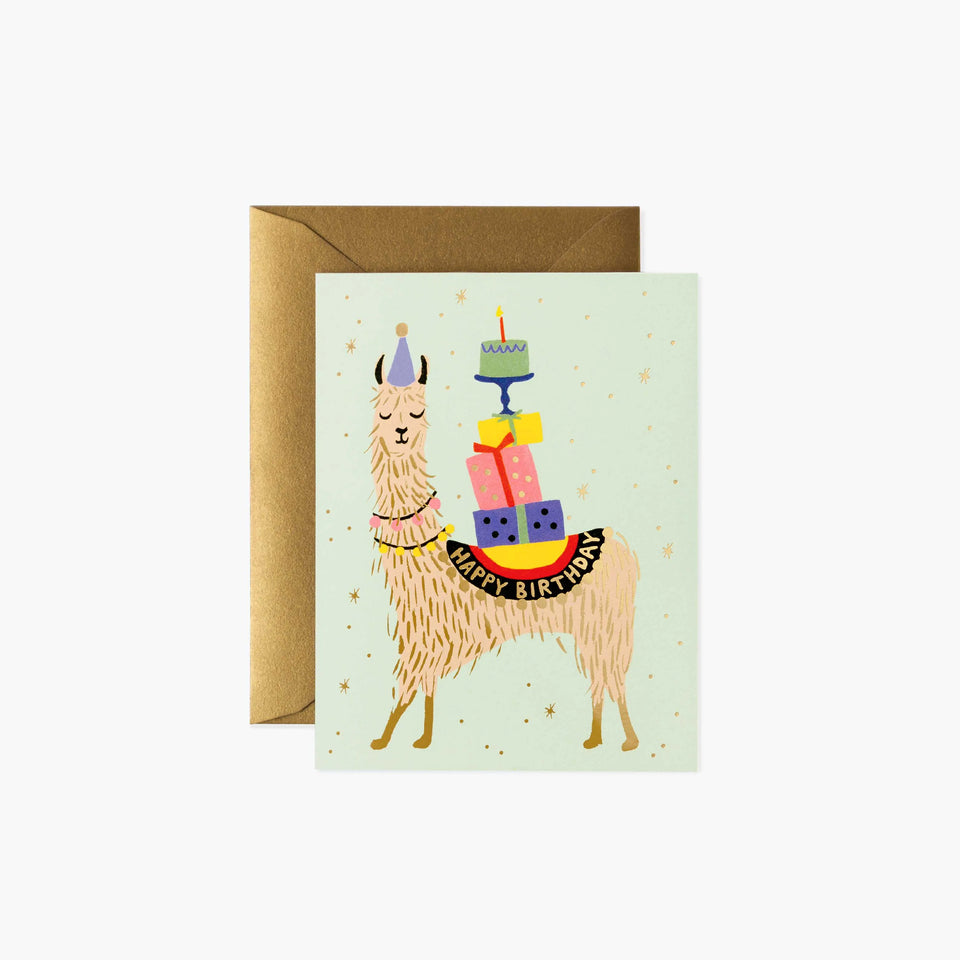 Llama Happy Birthday Card - Rifle Paper Co