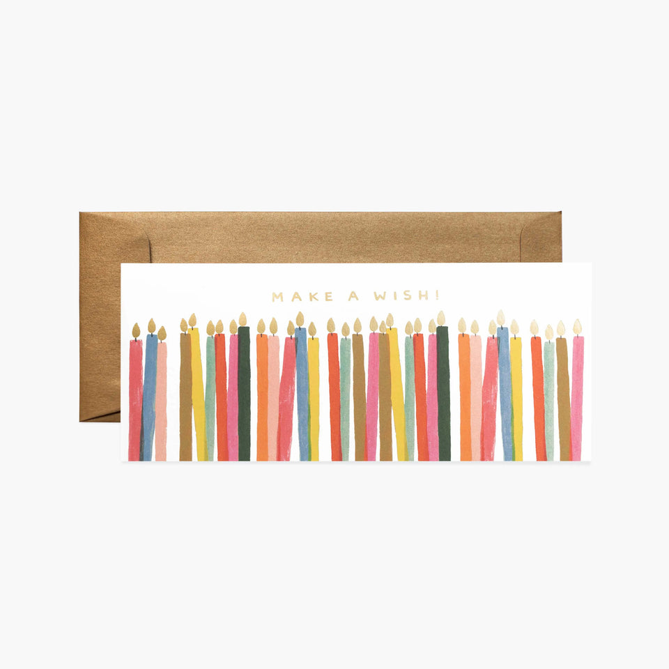 Make A Wish Candles Birthday Card - Rifle Paper Co