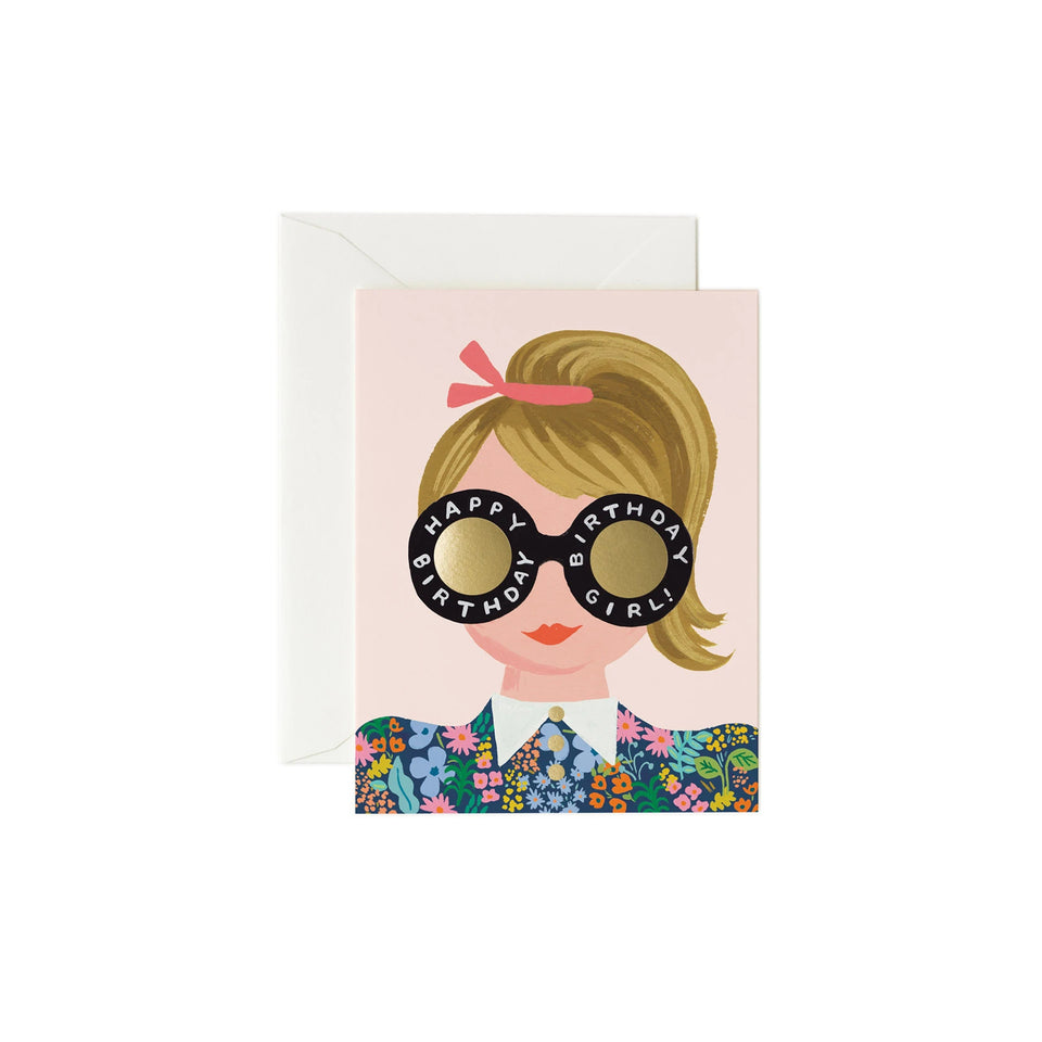 Birthday Girl Happy Birthday Card - Rifle Paper Co