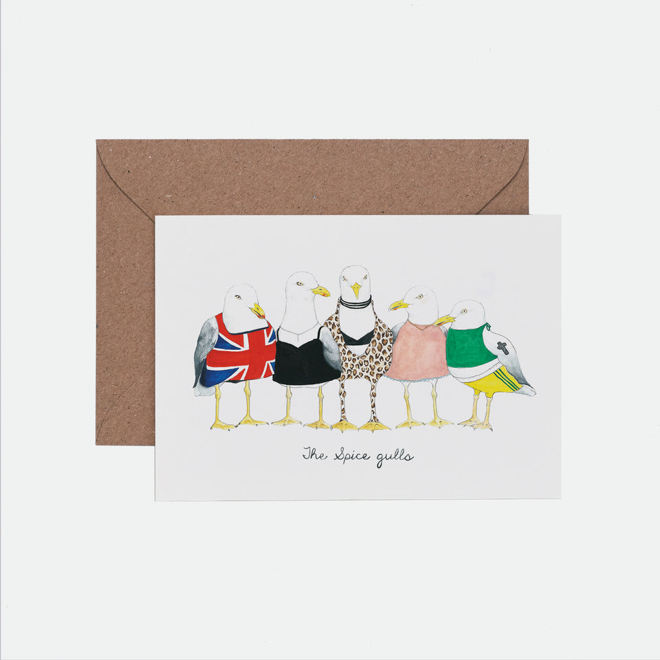 Spice Gulls Illustrated Greeting Card - Mister Peebles