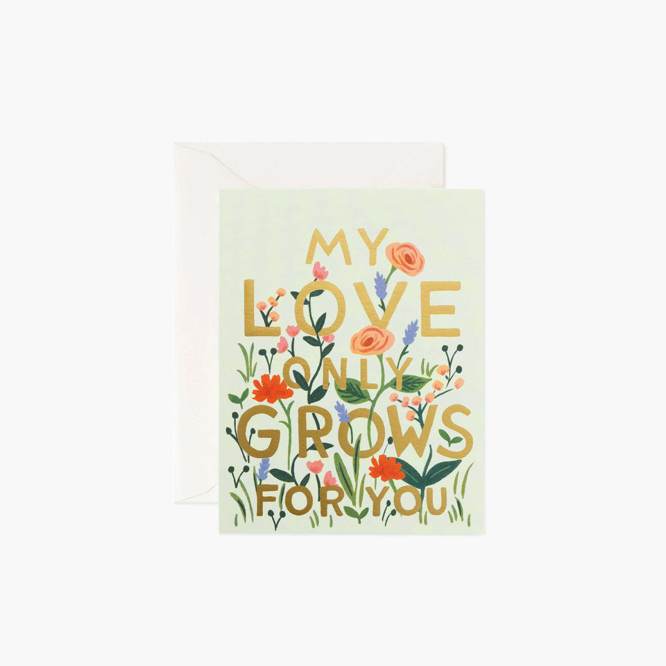 My Love Only Grows For You - Rifle Paper Co