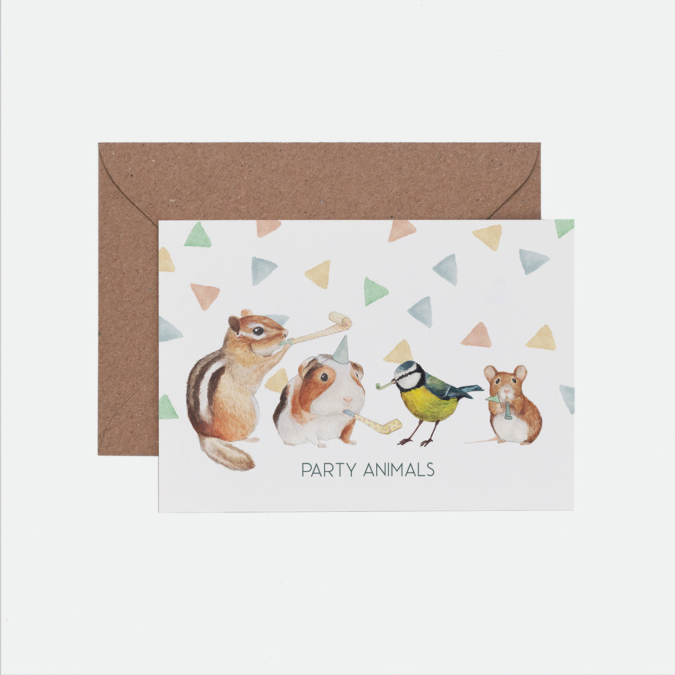 Party Animals Birthday Card - Mister Peebles