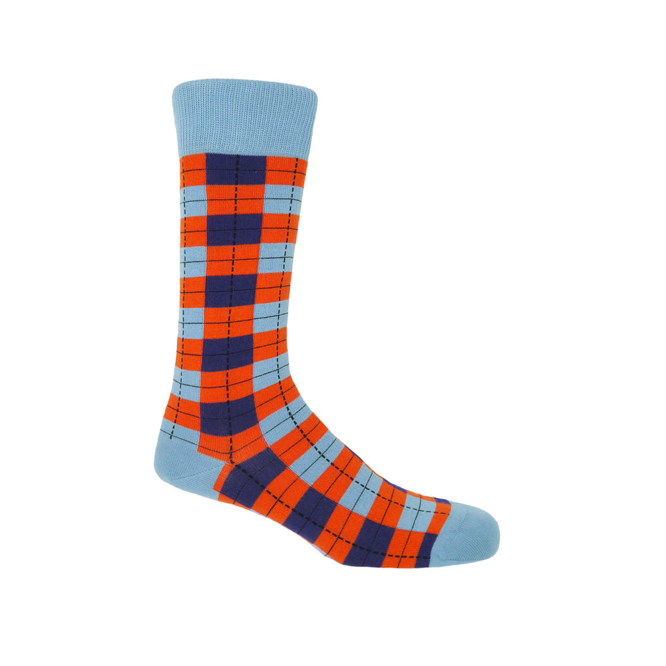 Checkmate Men's Socks - Sky - Peper Harow